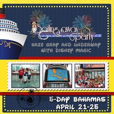 Test_-_Sail_away - MouseScrappers - Disney Scrapbooking Gallery Cruise Scrapbook Pages, Disney Scrapbook, Travel Scrapbook, Disney Fantasy Cruise, Disney Cruise, Party Layout, Disney Birthday, Cruise Vacation, Disney Magic