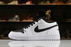 the best attitude ff18f d4f80 High Quality Mens and Womens Air Jordan 1 Low White Black Shoes Hot Sale