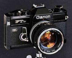 Camera Canon https://www.etsy.com/listing/533423542/canon-ftb-black-paint-w-fd-50mm-f14