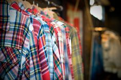 Scoping out the flannel shirts at Thrift Town. They were all like $0.25 and $0.50 a piece.