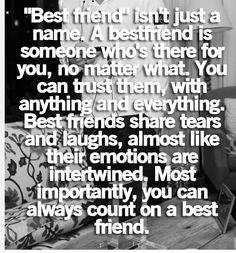 Best Friend Quote that is so true!