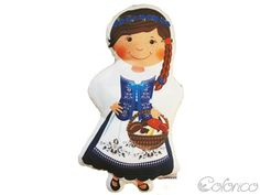 Poduszka lala - Kaszubka (proj. Colorico), do kupienia w DecoBazaar.com