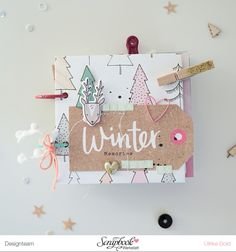 Mini *Winter Memories 2014/15* - Scrapbook Werkstatt Januar Kit 2017 *Winterwald* - von Ulrike Dold