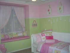 like the color combo for girls' room, really like butterflies on curtain