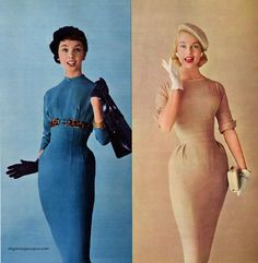 "myvintagevogue: ""Acrilan 1956 dresses by Sue Brett """
