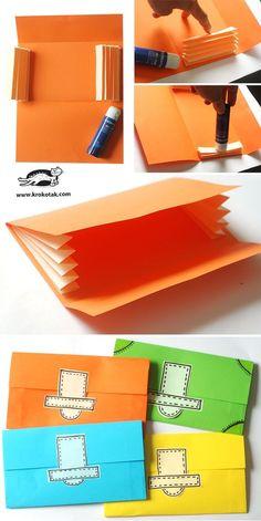 DIY paper wallet More - Diy Wallet Diy Wallet Paper, Diy Wallet No Sew, Fabric Wallet, Accordion Folder, Diy Accordion Wallet, Instruções Origami, Origami Wallet, Origami Design, Diy Dream Catcher