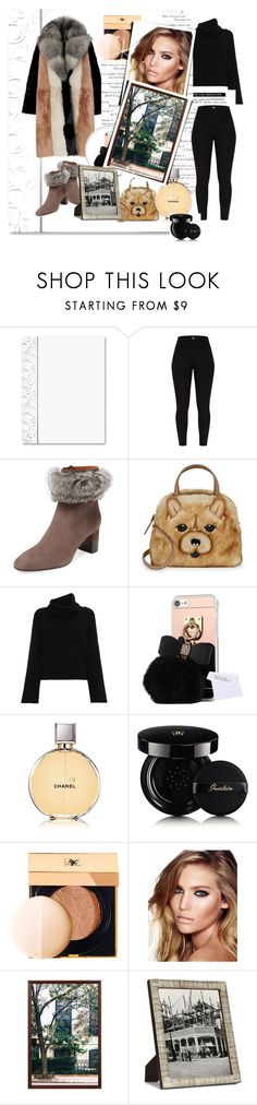 """""""fur"""" by bellamonica ❤ liked on Polyvore featuring Aquatalia by Marvin K., Kate Spade, Chloé, Chanel, Guerlain, Yves Saint Laurent, Charlotte Tilbury, Pottery Barn and Bright Ideas"""