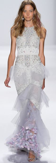 Badgley Mischka Ready To Wear Spring 2015.
