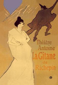 La Gitane de Richepin - Théâtre Antoine, by Henri de Toulouse-Lautrec