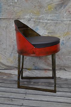 Industrial Barrel Bar Stool. Choose your color by WhitesIndustrial, $299.00