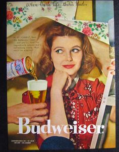 Vintage Ad: Budweiser beer, 1958