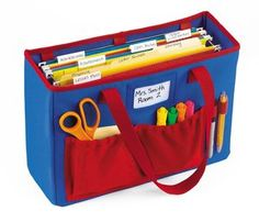 File Holder Teacher's Tote at Lakeshore Learning Organization And Management, Classroom Organisation, Teacher Organization, Classroom Management, Classroom Ideas, Kitchen Organization, Storage Organization, Storage Ideas, Teacher Supplies