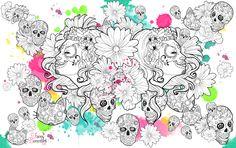 Calaveras façon Fanny Bonenfant retrouvez mes créations sur http://www.fanny-bonenfant.com