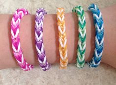 Rainbow Loom Fishtail Party Favor Fishtail Bracelets