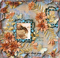 Sweet Kitty Layout by Lisa Nazario- Gregory | Lindy's Stamp Gang