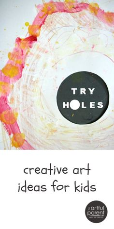 Creative Art Ideas for Kids - Inspire Creativity with Hole Challenge Drawings and Paintings Art Activities For Kids, Preschool Art, Painting Activities, Creative Activities, Activity Ideas, Painting For Kids, Art For Kids, Hole Drawing, Drawing Tips
