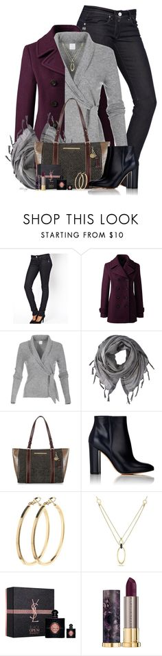 """Untitled #2704"" by sherri-leger ❤ liked on Polyvore featuring G-Star, Lands' End, Love Quotes Scarves, Brahmin, Gianvito Rossi, Pieces, Versace 19•69, Yves Saint Laurent and Urban Decay"
