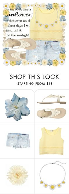 """I want to be like a sunflower ; so that even on the darkest days I will stand tall & find the sunlight ❁"" by blinkflowerchild ❤ liked on Polyvore featuring Clips, Avoca and American Eagle Outfitters"