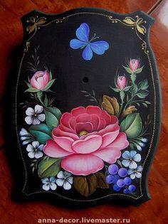 Zhostovo Jesus Painting, Tole Painting, Fabric Painting, Painting On Wood, Flower Crafts, Flower Art, Border Embroidery Designs, Cute Animal Drawings Kawaii, Russian Folk Art
