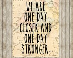 This is perfect. Just remember that although you are not together, every day you are just one more day closer to seeing each other.