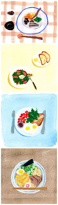 Food illustrations by Emmy Reis