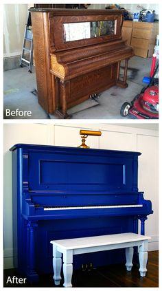 how I painted my piano - easy tutorial..................HELLO Goodwill! Dear abandoned pianos of past times, prepare to be purpled. Haha!