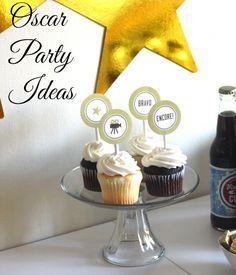 Cute Oscar Party Ideas + Free Printables   CatchMyParty.com