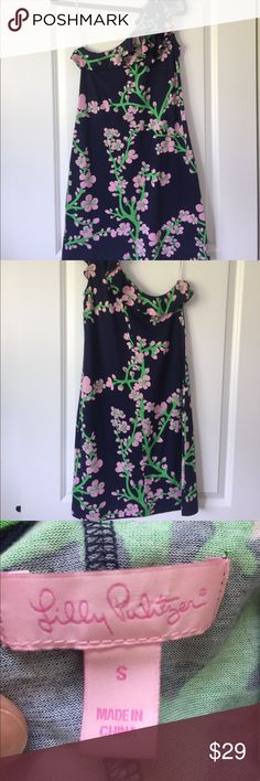 [Lilly Pulitzer] One shoulder mini dress - Size S Super cute for all seasons, Lilly Pulitzer one shoulder mini dress. Size Small. Gently used. Length is 35 inches. Lilly Pulitzer Dresses Mini