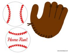 Baseballs and Glove from Baseball Printable Photo Booth Prop Set