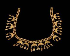 Gold necklace found in Grave 9 in Vani, Georgia, known to the ancient Greeks as Colchis, homeland of Medea. The necklace dates to 330-300 BCE.