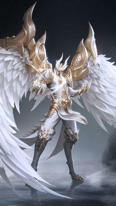 Angelic Dragon Male Reader x Harem Dark Fantasy Art, Fantasy Armor, Anime Fantasy, Fantasy Character Design, Character Inspiration, Character Art, Character Concept, Art Anime, Anime Kunst