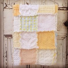 Custom ooak patchwork upcycled cot quilt