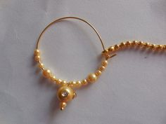 Beautiful indian nose Nath for Pierced by Gemstonebeadsfinding