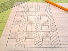 Tips on how to design your own quilts/blocks...Love using graph paper!!!
