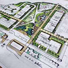 Architecture design drawing - BS Landscape Architecture (@ b ston ) Landscape Architecture Model, Architecture Concept Drawings, Landscape Design Plans, Landscape Concept, Urban Ideas, Urban Design Plan, Landscape Drawings, Landscape Photos, Parking Design