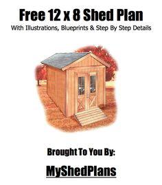Free 12'x8' Shed Plan. Link to download pdf.
