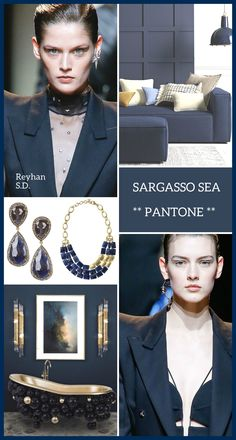 '' Sargasso Sea : Pantone Fall/ Winter 2018 - 2019 Classic Color '' by Reyhan S. Color Trends 2018, Colors And Emotions, Color Harmony, Blue Ombre, Color Stories, Color Schemes, Color Combinations, Color Pallets, Summer Colors
