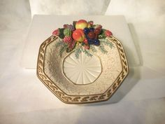 Fitz & Floyd Classics Venezia Fruit Bowl, Festive Hoilday Retired- NR
