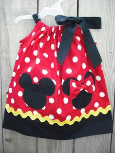 Minnie and mickey Mouse Pillowcase Dress by mycutebabystore1, $29.00