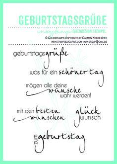 Geburtstagsgrüße - Stempel Set von inkystamp auf DaWanda.com