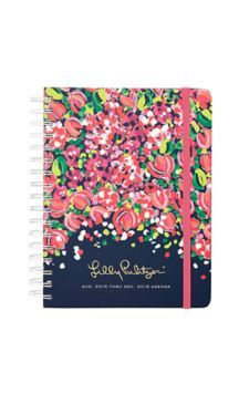 This is the one Peyton picked out for my birthday and I love it !!! Lilly Pulitzer Large Agenda Bright Navy Wild Confetti