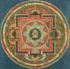 yama dharmaraja mandala #thangka #mandala Hand-painted. More @ traditionalartofnepal.com