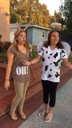 Oh Deer and Holy Cow Halloween Costume  #funnyhalloweencostumes