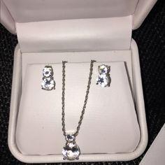 Swarovski Classic Set Authentic Swarovski earrings and necklace. Swarovski Jewelry Earrings