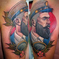 Neo-Traditional Gentlemen Tattoo by Myrhwan Ogtneotraditional gentlemen neotraditionalgentlemen MyrhwanOgt