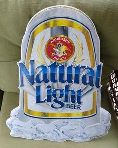 Anheuser Busch Natural Light Beer metal Sign #442-200 Designed 1990 Issued 1991