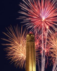 Fireworks Kansas City Union Station. Hubby & I spent our first July 4th at this fireworks display.