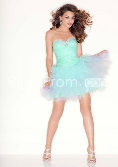 2014 Style A-line Sweetheart Beading Sleeveless Short / Mini Tulle Cocktail Dresses / Homecoming Dresses