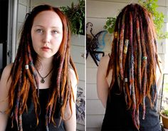 Roving wool hair extensions dreads | Found on flickr.com