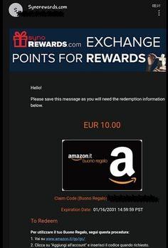 Arrivato istantaneamente Buono Amazon da 10 euro dal sito Surveyo24, sito di guadagno online con i questionari pagati. Cliccate qua sotto e iniziate anche voi a guadagnare da casa con Surveyo24.